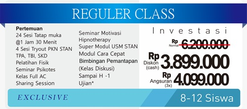 Bimbel Stan Reguler Class