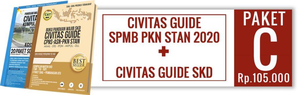 Paket buku SPMB PKN STAN dan Civitas Guide SKD 2020
